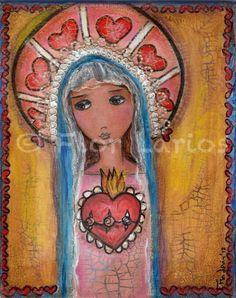 Sagrado Corazón.  Obra de Flor Larios.