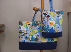 男の子用の通園バッグ・シューズバッグのセットです。通園バッグ…縦30㎝×横40㎝、マチ4㎝ シューズバッグ…縦26㎝&...|ハンドメイド、手作り、手仕事品の通販・販売・購入ならCreema。