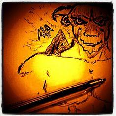 Minotauro, schizzo a penna
