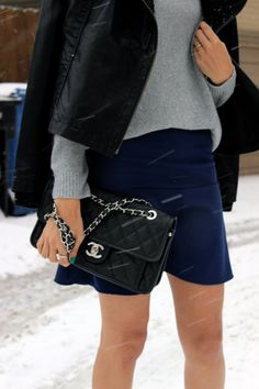 winter outfit inspo // chanel bag