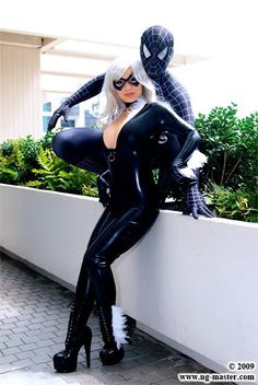 cat cosplay, black cats, spider man, spiderman black cat