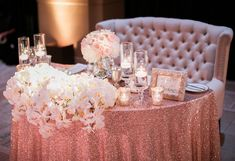 60 romantic vintage sweetheart table ideas 41 - Beauty of Wedding Rose Gold Centerpiece, Gold Wedding Centerpieces, Reception Decorations, Centerpiece Ideas, Table Centerpieces, Wedding Table, Wedding Reception, Budget Wedding, Sweet Heart Table Wedding