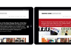 Responsive web design for the site promoting the book Graphic Icons.