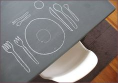 Dining Table Makeover: Chalkboard Style