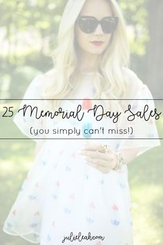 Julie Leah Blog // 25 Memorial Day Sales You Can't Miss