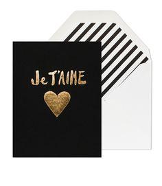 JE T'AIME HEART CARD #ModernPalm