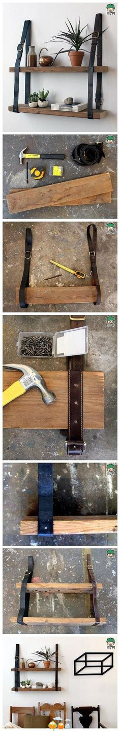 Etagère ceinture + bois
