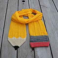 We Like Knitting: Knit Pencil Scarf - Free Pattern More