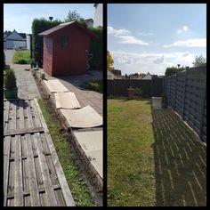 Auch die Sonne scheint fröhlicher, wenn der Garten neu gestaltet wird:-) Gartenprojekte machen so viel Spaß! Anspruchsvoller Zaun 2.0 #gartenideen #gartenprojekt #gartenzauber #zaun #gartengestaltung #sonneimgarten #gärtner #gruenerdaumen #bergischesland Railroad Tracks, Deck, Outdoor Decor, Home Decor, Fence, Sun, Homemade Home Decor, Front Porches, Decks
