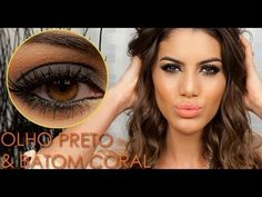 "Colores ahumado, esfumado marrón, naranja. Maquillaje de ojos de fiesta y boda de noche. Brown smokey eye, orange. Evening night wedding party makeup. Couleurs fumé. Maquillage des yeux pour marriage fête soir soiree nuit. Camila Coelho - YouTube.  https://www.facebook.com/bagatelleoficial Bagatelle Marta Esparza Maquiagem ""bapho"" para Festas. Maquiagem Nude com toque roxinho #smokey #eye #black"