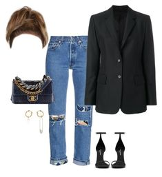 """""""going to a basketball game"""" by stylistcookies ❤ liked on Polyvore featuring Bliss and Mischief, AlexaChung, Calvin Klein 205W39NYC and Yves Saint Laurent"""