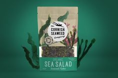 The Cornish Seaweed Company on Packaging of the World - Creative Package Design Gallery Salad Packaging, Food Packaging Design, Packaging Design Inspiration, Brand Packaging, Pouch Packaging, Packaging Ideas, Edible Seaweed, Paper Making Process, Sea Plants