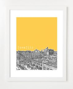 Iowa City skyline #iowacity #skyline #art