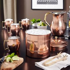 Beautiful copper drinkware