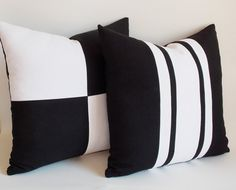 Set 2/Black Decorative pillowThrow pillowPillow by mertakkul, $50.00