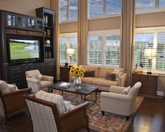 Two Story Family Room Design, Pictures, Remodel, Decor and Ideas