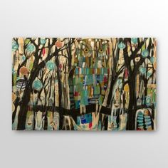 Find it at the Foundary - Tree Owl Mixed Media Collage - 24 x 16 in.  (I love Owls & Trees, this is perfect!)