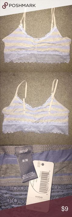 Super soft bralette Aerie bralette with no padding. Has a convertible hook so you can wear the straps racerback or spaghetti style. Wonderful for under tank tops in the summer. Also perfect for lounging because the material is so soft. aerie Intimates & Sleepwear Bras