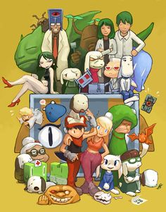 Cave Story: the whole gang!