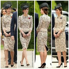 The Duke and Duchess of Cambridge and Prince Harry attending a service to mark the anniversary of the start of the battle of the Somme at the Commonwealth War Graves Commission Memorial in Thiepval, France. Estilo Kate Middleton, Kate Middleton Dress, Princess Kate Middleton, Kate Middleton Style, Duchess Kate, Duke And Duchess, Duchess Of Cambridge, Diana Spencer, Kate And Meghan