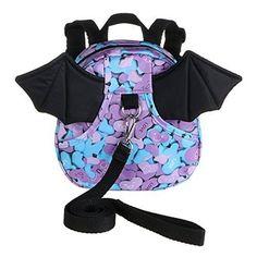 Safe Baby Harness Toddler Kids Safety Child Bat Purple Walk Back Pack Strap Rein Baby Harness, Kids Safety, Baby Safe, Kids Girls, Baby Car Seats, Packing, Backpacks, Purple, Children
