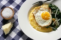Polenta With Parmesan and Olive Oil Fried Eggs Recipe - NYT Cooking