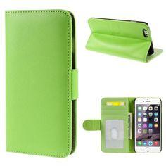 Köp Plånboksfodral Smooth Apple iPhone 6 Plus grön online: http://www.phonelife.se/planboksfodral-smooth-apple-iphone-6-plus-gron