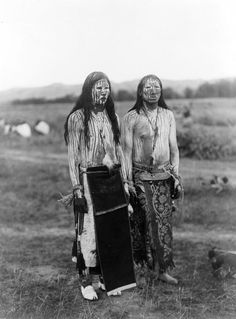 Cheyenne Sun dance pledgers -- Oklahoma. Photo by Edward Curtis, ca. 1910.