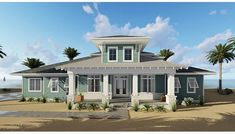 Runaway Bay is beach lover's paradise! This coastal cottage house plan is perfect for the family looking to take advantage of excellent views both front and […] Beach Cottage Style, Beach Cottage Decor, Coastal Cottage, Coastal Homes, Cottage Homes, Coastal Living, Cottage Chic, Coastal Decor, Beach House Tour