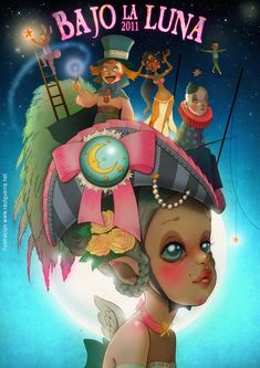 Under the Moon by raul-guerra Illustrations, Book Illustration, Local Festivals, Indian Baby, Under The Moon, Fantasy Inspiration, Various Artists, Ghibli, Artsy Fartsy