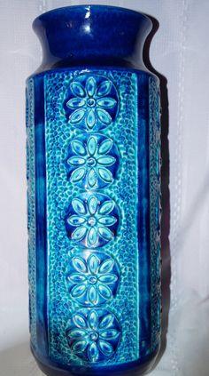 Vintage Aqua Blue West German Vase Bay by EllieandBelleVintage, $195.00
