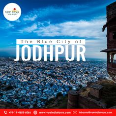 India's Blue City Jodhpur! Experience the rich heritage of the spectacular citiy of Jodhpur. The blue-hued Jodhpur's Mehrangarh Fort, Jaswant Thada, Umaid Bhawan Palace, and Clock Tower are much-loved by tourists from all over the world.