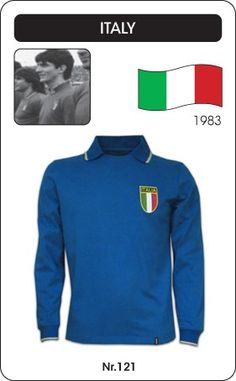 Italië voetbalshirt 1983 Italia Italy retro voetbal truitje football soccer vintage sport COPA