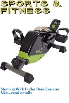 (This is an affiliate pin) Stamina Wirk Under Desk Exercise Bike Desk Workout, Cardio, Exercise, Bike, Fitness, Sports, Training, Ejercicio, Bicycle