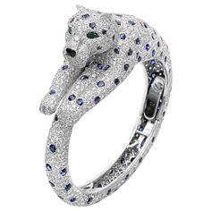 Cartier Panthére Diamond & Sapphire Bangle