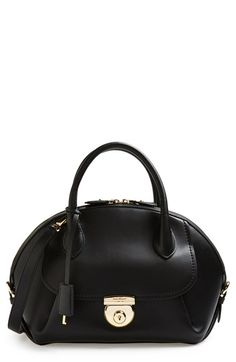 Salvatore Ferragamo 'Vivette' Leather Dome Satchel available at #Nordstrom