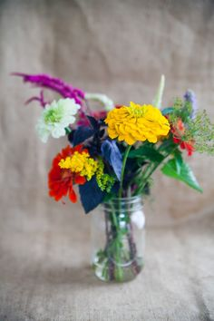 Wild flowers and herbs to brighten up any table! #celebrateeveryday