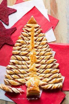Albero di Natale di pasta Sfoglia - Ricetta Albero di sfoglia