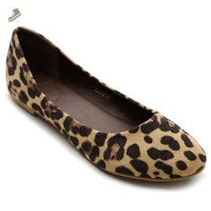 Ollio Womens Shoe Ballet Light Faux Suede Low Heels Flat(7.5 B(M) US, Leopard) - Ollio flats for women (*Amazon Partner-Link)