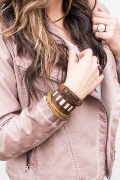 The Hipster Collection, our beautiful collection of hip genuine leather bracelets!  Each are handmade with genuine leather and give you that hipster vibe you are looking for!