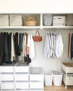 Here are some of the most functional and beautiful walk-in closet ideas to help you create an impeccable, organized dressing area. Dressing Room Closet, Closet Bedroom, Dressing Area, Dressing Rooms, Closet Organisation, Closet Storage, Muji Storage, Storage Spaces, Organizar Closet