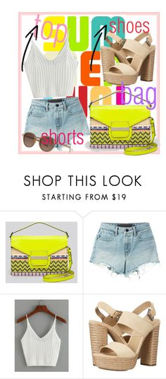 """""""Go summer!"""" by micaelatamara ❤ liked on Polyvore featuring Milly, T By Alexander Wang, Michael Kors and Giorgio Armani"""