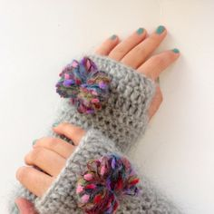 Hand - Crocheted gloves design inspiration on Fab.