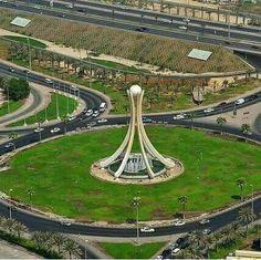 دوار اللؤلؤة البحرين Parque Linear, Manama Bahrain, Landscape Architecture Design, Futuristic City, Memorial Park, Shopping Mall, Tour, Tower Clock, Photoshop