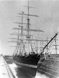 Tall Ship - SALAMIS, Sister of Thermopylae, British Clipper Ship 1875 -1905. (ran aground)