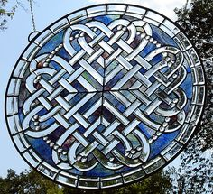 A beautiful piece of celtic stained glass!