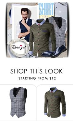 """""""Rosegal 24"""" by pantarei85 ❤ liked on Polyvore featuring men's fashion and menswear"""