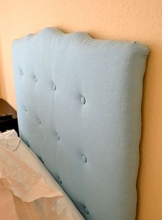 DIY: Tufted Fabric Headboard