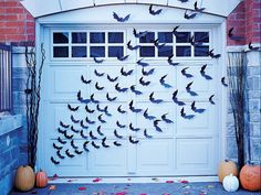 1000 ideas about halloween garage door on pinterest - Decoration halloween a fabriquer ...