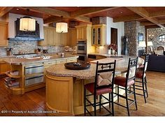At are family gatherings we all seem to end up in the kitchen/family room.  Great open space, and inviting.